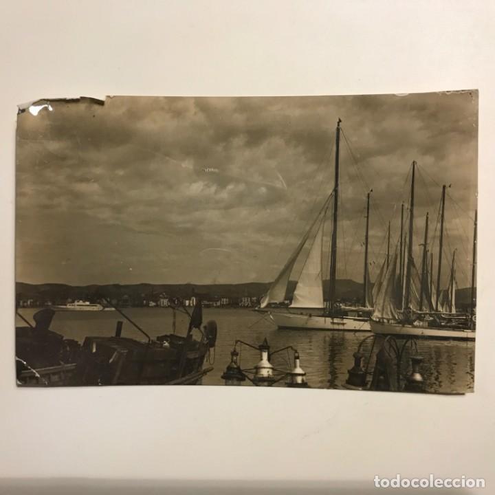 Postales: 1958 Villanueva y la Geltrú 34 Puerto. 25 Agosto 58 Paspartú 18x13. Vilanova i la Geltrú - Foto 2 - 148624238