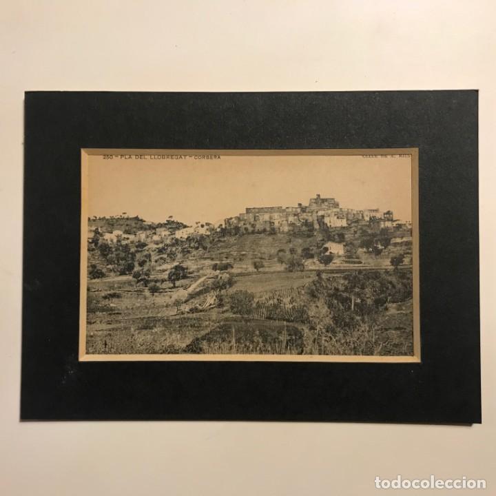 PLÁ DEL LLOBREGAT. CORBERA. ASSOCIACIÓ PROTECTORA DE LA ENSENYANSA CATALANA. PASPARTÚ 18X13 (Postales - España - Cataluña Antigua (hasta 1939))