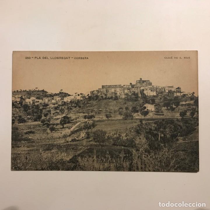 Postales: Plá del Llobregat. Corbera. Associació protectora de la Ensenyansa Catalana. Paspartú 18x13 - Foto 2 - 148626246