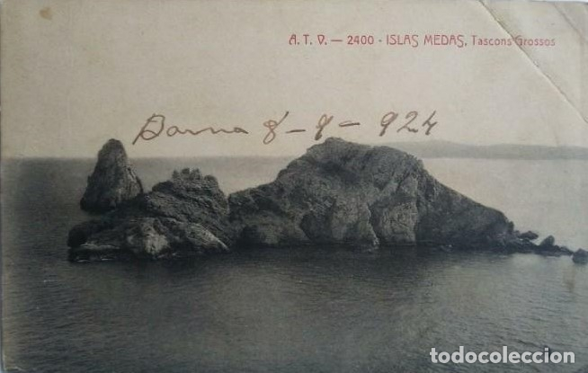 1924 ISLAS MEDAS TASCONS GROSSOS ILLES MEDAS (Postales - España - Cataluña Antigua (hasta 1939))