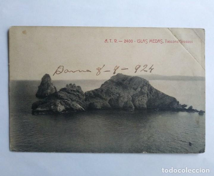 Postales: 1924 ISLAS MEDAS Tascons grossos ILLES MEDAS - Foto 2 - 139083498