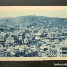 Postales: POSTAL BARCELONA. PUERTO. PANORAMA DE LA MONTAÑA DEL TIBIDABO. ROISIN. . Lote 148942098