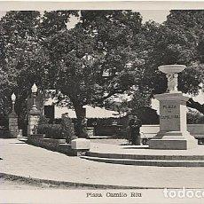 Postales: X121018 CATALUNYA BARCELONA PROVINCIA BAJO BAIX LLOBREGAT BEGUES BEGAS PLAZA CAMILO RIU. Lote 149474474