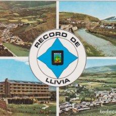 Postales: LLIVIA (GIRONA) VISTA AÉREA, HOTEL LLIVIA - ESCUDO DE ORO Nº 1 - S/C. Lote 150016062
