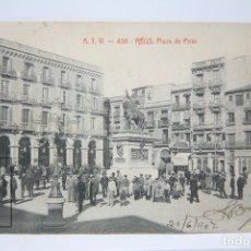 Postales: ANTIGUA POSTAL - REUS, PLAZA DE PRIM Nº 438 - ATV - CIRCULADA - AÑO 1907. Lote 150106666