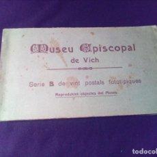 Postales: LIBRETO DE 20 POSTALES MUSEU EPISCOPAL DE VICH SERIE B SAMSUT Y MISSE. Lote 150283210