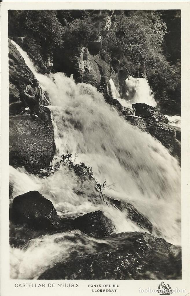 CASTELLAR DE N'HUG. FONTS DEL RIU LLOBREGAT. 3. BUEN ESTADO. SIN CIRCULAR. 14X9 CM. (Postales - España - Cataluña Antigua (hasta 1939))