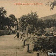 Postales: FIGARÓ. GLORIETA-FONT DE L'ANDREU. Lote 148623110