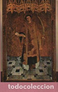 POSTAL DEL RETABLE DE SANT BALDIRI D LLUIS DALMAU SEGLE XV - SANT BOI DE LLOBREGAT (Postales - España - Cataluña Moderna (desde 1940))