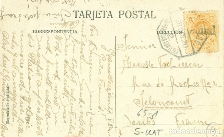 Postales: GRANOLLERS ESTACIÓN FERROCARRIL M.Z.A. ANDEN. CIRCULADA EN 1928 - Foto 2 - 150955910