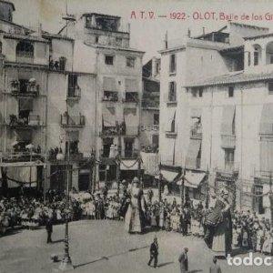 1922 Olot. Baile de gigantes. Ball de gegants