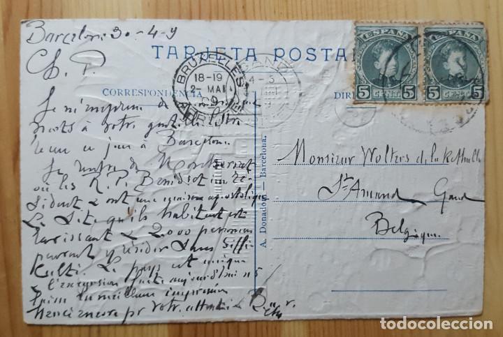 Postales: Montserrat Abside de la Basilica Ed. A. Donadoni en relieve 1909 - Foto 2 - 151167834