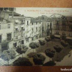 Postales: POSTAL DE MONTBLANCH PLAÇA D'EN PRAT DE LA RIBA MONTBLANC FOTOGRAFIA ANTIGA ANTIGUA DIARI TARRAGONA. Lote 151295702