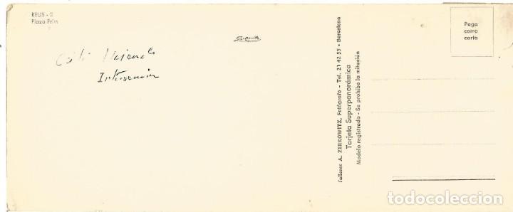 Postales: postal reus plaza prim foto zerkowitz tarjeta super panoramica 22,5 x 9 cm - Foto 2 - 151380418