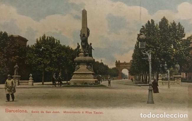 BARCELONA. SALÓN DE SAN JUAN. MONUMENTO A RIUS TAULET (Postales - España - Cataluña Antigua (hasta 1939))
