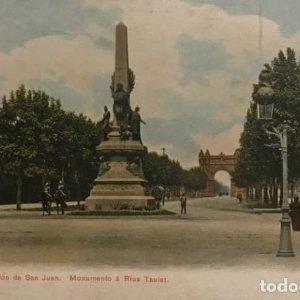 Barcelona. Salón de San Juan. Monumento a Rius Taulet