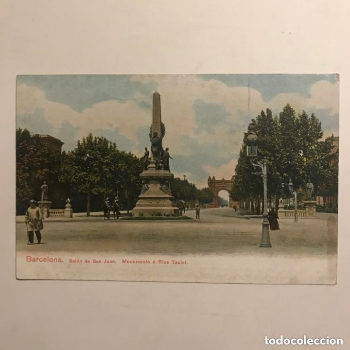 Postales: Barcelona. Salón de San Juan. Monumento a Rius Taulet - Foto 2 - 149274702