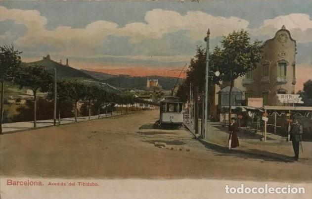 Barcelona. Avenida el Tibidabo. Tramvia blau