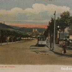 Postales: BARCELONA. AVENIDA EL TIBIDABO. TRAMVIA BLAU. Lote 149274850