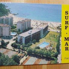 Postales: HOTEL SURF MAR FANALS PLAYA FANALS LLORET DE MAR. Lote 151575970