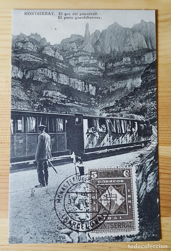 MONTSERRAT EL PERRO GUARDABARRERA ED. L. ROCA 1931 (Postales - España - Cataluña Antigua (hasta 1939))