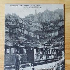 Postales: MONTSERRAT EL PERRO GUARDABARRERA ED. L. ROCA 1931. Lote 151668726