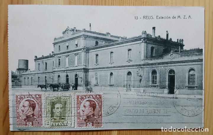 REUS ESTACION DE M.Z. A. Nº 13 ED. TRICAZ Y FUMADO 1931 (Postales - España - Cataluña Antigua (hasta 1939))