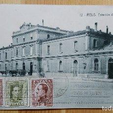 Postales: REUS ESTACION DE M.Z. A. Nº 13 ED. TRICAZ Y FUMADO 1931. Lote 151668758