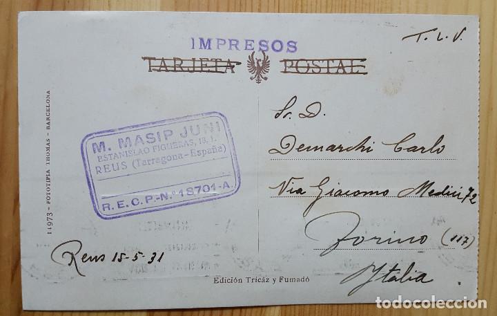 Postales: Reus estacion de M.Z. A. Nº 13 Ed. Tricaz y Fumado 1931 - Foto 2 - 151668758