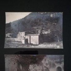 Postales: DOS POSTALES DEL SANTUARIO DEL MONT. PARROQUIA DE SOUS. POSTAL IX Y X. FOTOGRAFICA V·FARGNOLI. Lote 151696186