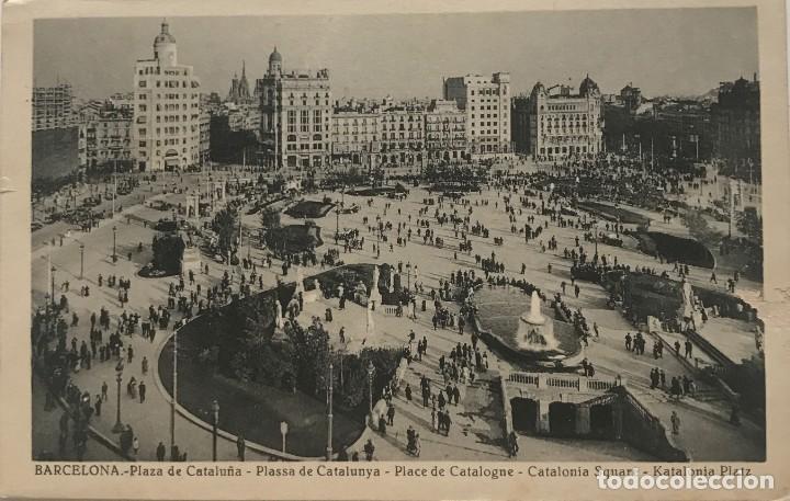 BARCELONA. PLAZA DE CATALUÑA (Postales - España - Cataluña Moderna (desde 1940))