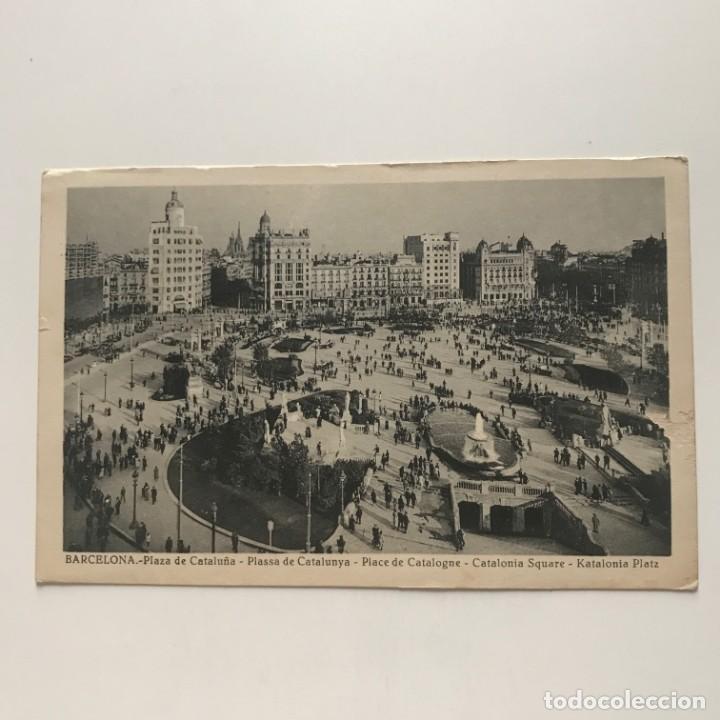 Postales: Barcelona. Plaza de Cataluña - Foto 2 - 151999814