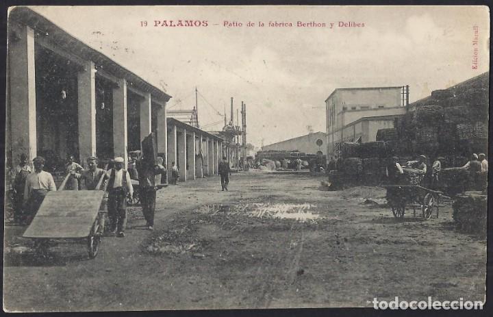 POSTALES - CATALUÑA. PALAMÓS. PATIO DE LA FÁBRICA BERTHON Y DELIBES. (Postales - España - Cataluña Antigua (hasta 1939))
