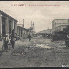 Postais: POSTALES - CATALUÑA. PALAMÓS. PATIO DE LA FÁBRICA BERTHON Y DELIBES.. Lote 152022082