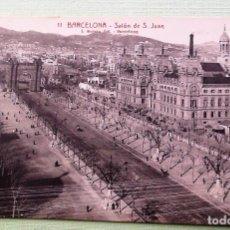 Postales: BARCELONA. 11 SALÓN DE SAN JUAN, L. ROISIN. NUEVA. BLANCO/NEGRO. Lote 152131969