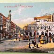 Postales: BARCELONA. 71 PASEO DE COLÓN. ANIMADA. ROVIRA-S.A.NUEVA. COLOR. Lote 152132465