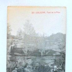 Postales: TARJETA POSTAL 20- SOLSONA , FONT DE LA MINA, ANIMADA, FOTOTIPIA THOMAS, SIN CIRCULAR. Lote 152276234