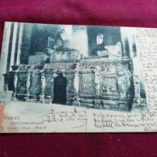 Postales: POBLET. DORSO SIN DIVIDIR. HAUSER Y MENET. Lote 152548022