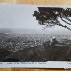 Postales: BARCELONA TIBIDABO PANORAMA Nº 501 ED. L. ROISIN SELLOS CID Y FRANCO. Lote 152862770