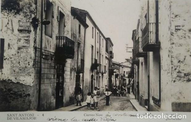 1944 SANT ANTONI DE VILAMAJOR. CARRER NOU. C. MAURI. CIRCULADA (Postales - España - Cataluña Antigua (hasta 1939))