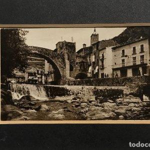 Camprodón. Pont nou i carrer de Sant Roc. Aulí