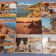 Postales: LOTE DE 110 POSTALES DE LLORET DE MAR CON MUCHOS SELLOS - VER TODAS LAS FOTOS. Lote 152916622