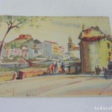Postales: BAGUR (VISTA PARCIAL) - ACUARELISTA J. FUSTER - ARTES GRAFICAS TRAYTER . Lote 153178162
