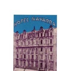 Postales: BARCELONA.- HOTEL NAVARRA. Lote 153867590