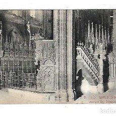 Cartes Postales: TARJETA POSTAL DE BARCELONA - CATEDRAL. INTERIOR DEL TEMPLO. 110. A.T.V. Lote 153921418