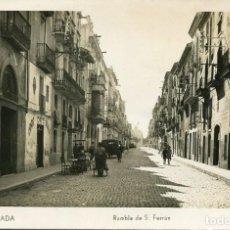 Postales: IGUALADA-RAMBLA DE S. FERRÁN-BAR CAFÉ-FOTOGRÁFICA. Lote 153945014