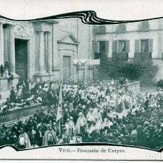 Postales: VICH-PROCESIÓN DE CORPUS- A. MAURI Nº 142 SIN DIVIDIR-1903. Lote 154178774