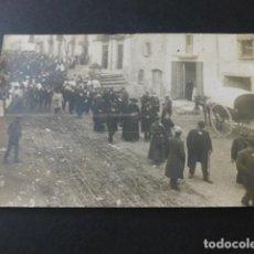 Postales: IGUALADA BARCELONA AUTORIDADES CIVILES Y RELIGIOSAS PROCESION O DESFIL POSTAL FOTOGRAFICA HACIA 1915. Lote 154342234