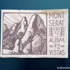 Postales: MONTSERRAT. ÁLBUM 72 VISTAS. HUECOGRABADO. RIEUSSET. BARCELONA. Lote 154389598