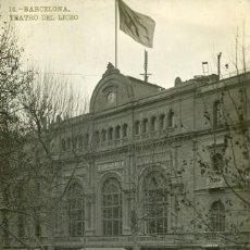 Postales: BARCELONA-TEATRO DEL LICEO- LB (BARTRINA) Nº 14-FOTOGRÁFICA. Lote 154490310